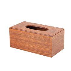 Vintage Wooden Tissue Box Cover Rectangular