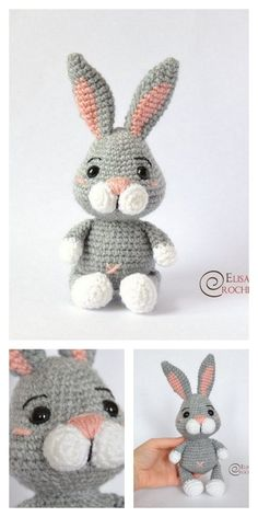Amigurumi Winter Bunny Free Pattern – Free Amigurumi Patterns - Old Media Crochet Bunny Pattern, Crochet Amigurumi Free Patterns, Crochet Animal Patterns, Stuffed Animal Patterns, Crochet Dolls, Stuffed Animals, Free Crochet, Easy Knitting Projects, Crochet Projects