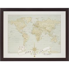 ImagineNations,ImagineNations - Uncommon Goods,Northwest Framing... ($149) ❤ liked on Polyvore featuring home, home decor, wall art, inspirational home decor, map wall art, motivational wall art, framed wall art and personalized home decor