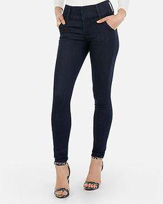 2b4458af0ab39 high waisted dark wash stretch+ denim perfect jean legging