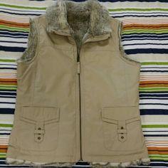 Old Navy Jackets & Coats - Reversable faux-fur vest. Size small.