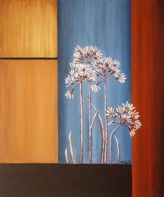 Geometria con fiori secchi