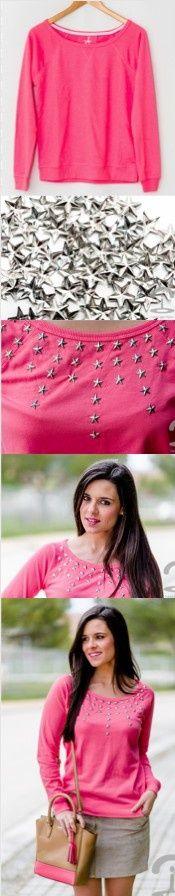 DIY Crimenes de la Moda - Stars pullover - Sudadera estrellas