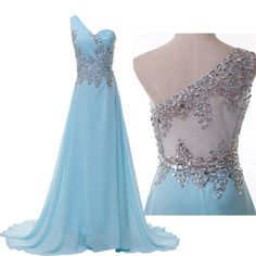 CHEAP SALE Beaded Chiffon Evening/Formal/Ball gown/Party/Pageant/Prom Dress Long in Clothing, Shoes & Accessories, Clothing, Shoes & Accessories | eBay