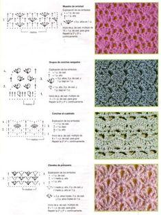 Pontos em mais pontos de crochê que você vai amar saber. São 95 Pontos Extravagantes e muito lindos Em Crochê Que Você precisa Saber.
