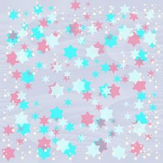 Romantic pink white blue festive wrapping paper with stars on seamless pink ice background Pink White, Photo Editing, Wraps, Romantic, Fine Art, Paper, Pictures, Photos, Creative