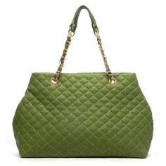 Designer inspired handbag Faux leather Zip top closure Gold-tone hardware L 16 * H 11 * W 5.5 ( 8.5D)