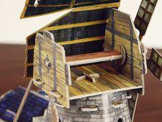 """Old-time windmill"" cardboard construction set (273)   eBay"