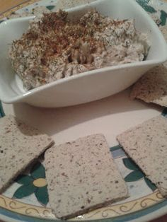 Coconut flaxseed crackers