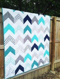 Hey, I found this really awesome Etsy listing at https://www.etsy.com/listing/203256394/queen-size-quilt-follow-your-arrow