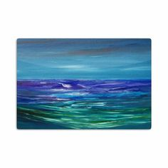 "Cyndi Steen ""Moonlit Waves"" Blue Purple Aluminum Artistic Magnet"