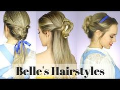 Beauty and the Beast Hair Tutorial | Disney Style - YouTube