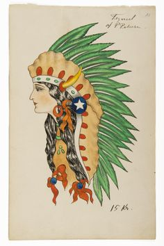 From the Maritime Museum´s collection of approximately 170 original tattoos of the and Head Tattoos, Body Art Tattoos, Antique Tattoo, Vintage Tattoos, Cliche Tattoo, Traditional Tattoo Prints, Native American Tattoos, Sailor Tattoos, Traditional Tattoo Flash