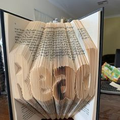 Book Folding Pattern - Double Hearts+ Free Instructions with Pictures Tips And Tricks, Book Folding Patterns Free, Old Book Crafts, Heart Outline, Love Heart, Easy, Create Your Own, Free Pattern, This Or That Questions