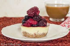 Cheesecake for breakfast? Yes! Packed with protein so you can eat it guilt free! My Almond Breakfast Keto Cheesecake is low carb, gluten free, & THM S.