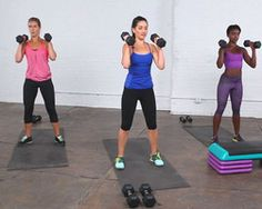 5 minute dumbbell workout routine. Repeat.