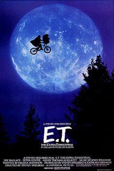 E.T. de Steven Spilberg. No conozco a nadie que no haya visto esta #película, y no me fio de los que no han llorado en el #cine