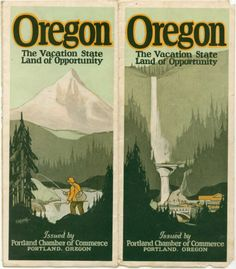 Vintage 1920s 1930s Oregon travel brochure  The by PaperHistory