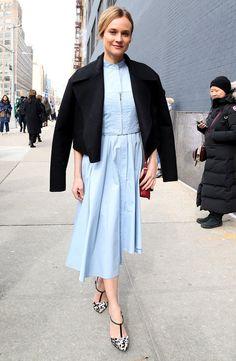 Le look pastel chic de Diane Kruger