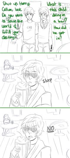 Crossover - Callum, Percy and Harry by http://misterpoof.tumblr.com