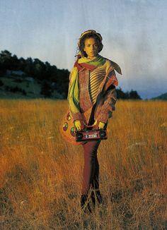 """Tweed Again"", ELLE France, October 1988Photographer: Friedmann HaussModel: Veronica Webb Happy birthday, Veronica! (February 25, 1965, 50 today)"