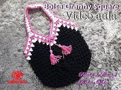 Bolsa em crochet granny square