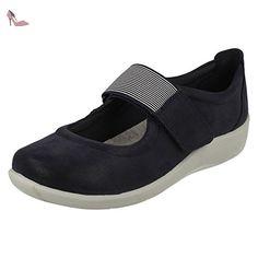 Clarks Détente Femme Chaussures Sillian Cala En Textile Bleu Taille 38 ls7WJ
