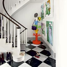 A fun hallway featuring the Paradise Tree Coat Stand http://www.nest.co.uk/browse/brand/magis/magis-paradise-tree-coat-stand - image via Housetohome