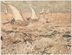 """furtho: """"Vincent van Gogh's Fishing Boats At Sea, 1888 (via here) """""""
