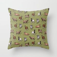 Couch Pillows, Down Pillows, Tiny Goat, Designer Throw Pillows, Pillow Design, Pillow Inserts, Goats, Cozy, Pretty