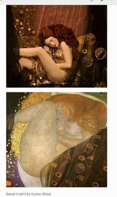 Photographer Inge Prader recreates Klimt paintings