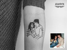 Photo tattoo // definitely doing this with the bf someday xx