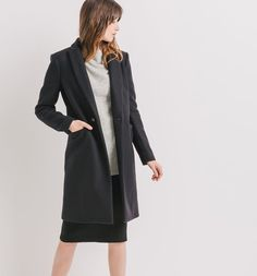 Cooperative borg swing coat in black
