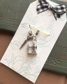 """Sewing Charm (@481designsllc) on Instagram: """"Accessorize your Travelers Notebook with this adorable sewing themed charm.   Please visit my shop…""""  www.481designs.com Instagram @481designsllc Facebook @481designs"""