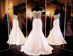 ivory-gold-mermaid-prom-or-pageant-dress-sweetheart-beaded-bodice-115tif04696200448 / Rsvp Prom and Pageant. Atlanta, GA