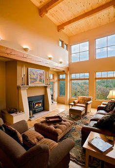 Modern Southwest Style Home mediterranean living room