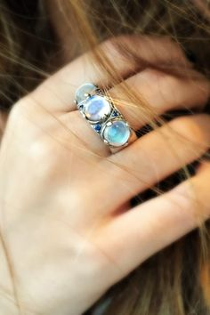 Moonstone magic in ring form.