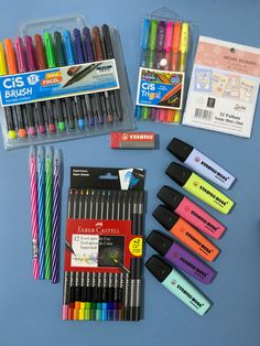 College School Supplies, School Supplies Organization, School's Out For Summer, Stationary Store, Study Space, Too Cool For School, Lei, Origami Paper, Markers