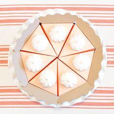 Paper Pumpkin Pie Craft DIY