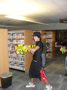 Centennial Park Library in Greeley, CO held a ZOMBIE LOCK-IN. Here we see a teen reader ready to take on any zombie in his path! Thanks for sharing Khristine! Looks like one fun event!