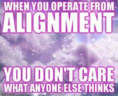 Get in the zone. Alignment.