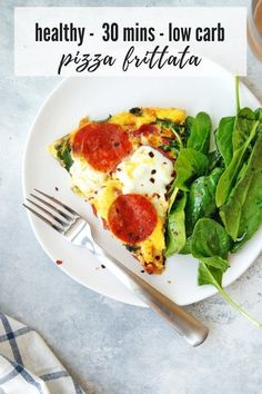 Pizza Frittata- a great dish for your family! The whole meal can be prepared and cooked in less than 30 minutes. It is full of vegetables, protein, and tons of classic pizza flavor. Healthy Vegetable Recipes, Healthy Low Carb Recipes, Healthy Meals For Kids, Healthy Breakfast Recipes, Brunch Recipes, Easy Meals, Healthy Brunch, Egg Recipes, Pizza Recipes