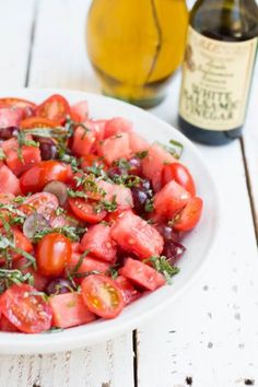 The BEST watermelon salad recipe we've made ohsweetbasil.com