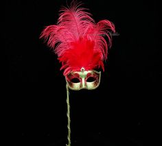 Hey, I found this really awesome Etsy listing at https://www.etsy.com/listing/158068123/stick-mask-venetian-style-ostrich