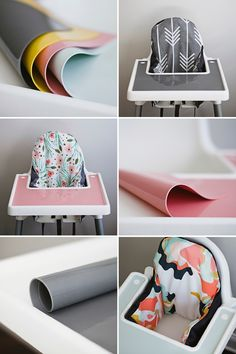 Make your IKEA highchair cuter and smarter with designer cushion covers and silicone placemats from Yeah Baby Goods. The FDA food-grade silicone placemat fits perfectly inside the tray and makes clean up a breeze. Dishwasher safe and comes in a variety of colors. Order yours today!