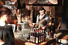 The amazing bartender at the Paul Hardy S/S 2013 reveal. Looks great! #food #fashion #StyleYYC