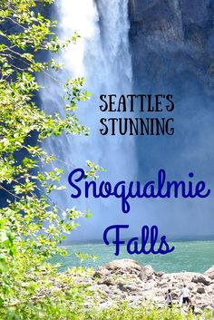 The natural wonder of Snoqualmie Falls in Seattle, WA.