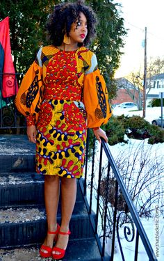"That Black Chic: Sew What? African ""POT LUCK"" Dress, that's what! [Butterick B6088 Pattern Review]"