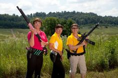 Deb Ferns, Lisa Munson and Kay Miculek, co-founders of Babes with Bullets.
