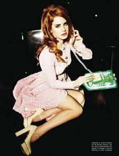 Lana Del Rey Kicks Up Her Heels for Vogue Italia August by Ellen von Unwerth